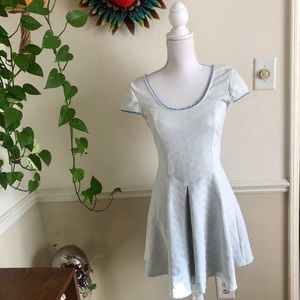Free People Skater Dress with Criss Cross Back